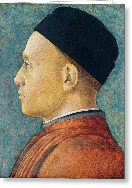 Andrea Mantegna, Portrait Of A Man, Italian Greeting Card by Litz Collection