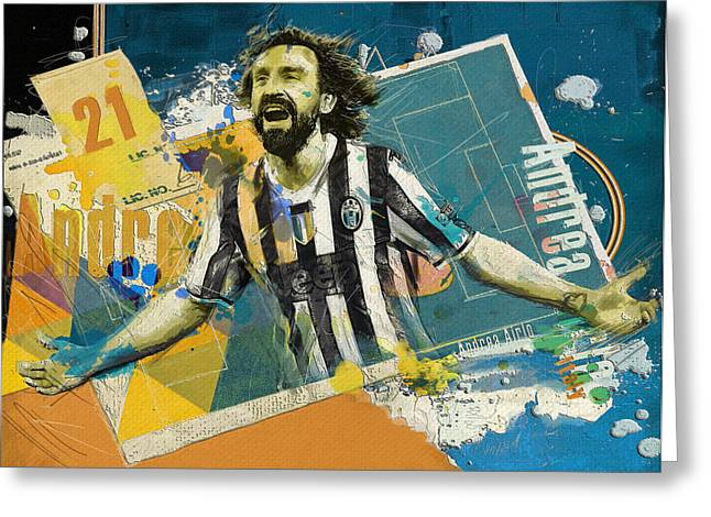 Andrea Pirlo - B Greeting Card by Corporate Art Task Force