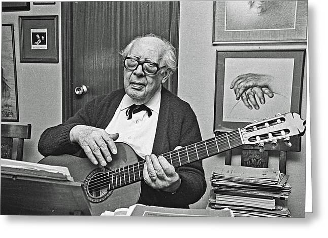 Andres Segovia-musician Greeting Card
