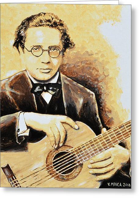 Andres Segovia Greeting Card