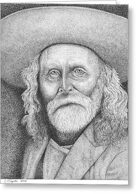 Andrew Garcia - Frontiersman Greeting Card by Lawrence Tripoli