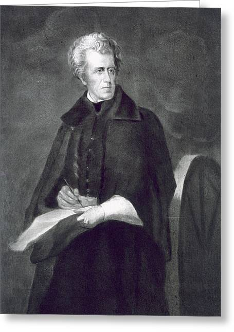 Andrew Jackson Greeting Card by Eliphalet Frazer Andrews