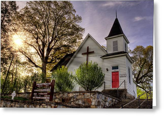 Andrews Presbyterian Church Greeting Card by Greg and Chrystal Mimbs