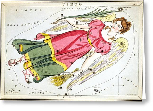 Virgo Greeting Card by Celestial Images