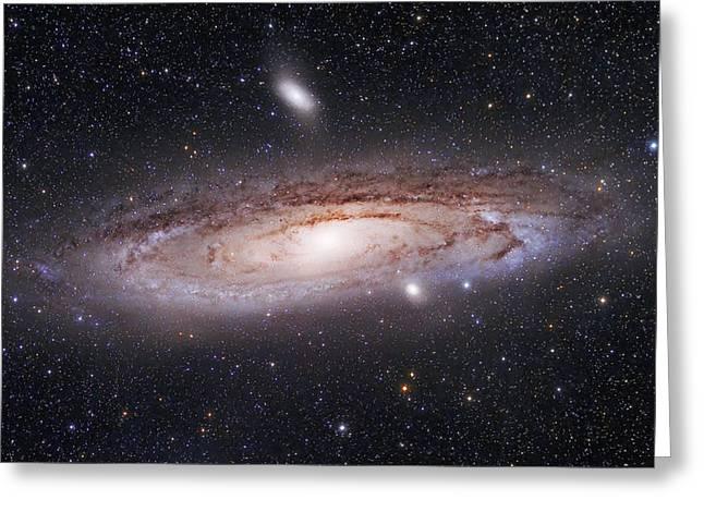 Andromeda Galaxy Greeting Card by Alex Conu