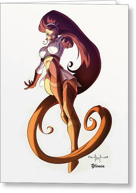 Andromeda Greeting Card by Ylenia Art