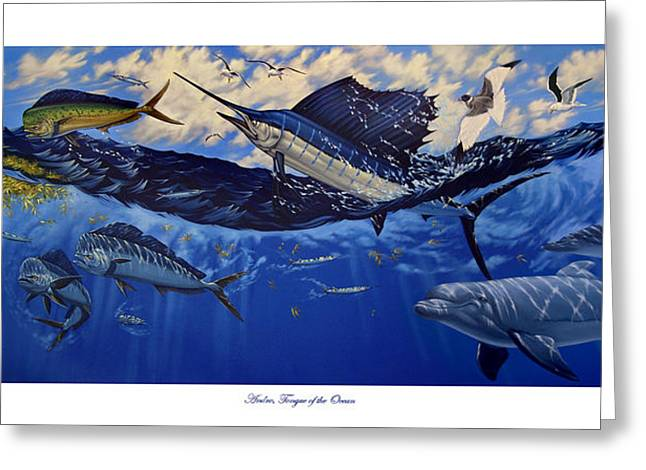 Andros Tongue Of The Ocean Greeting Card by Philip Slagter