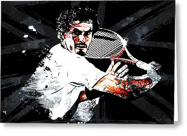 Andy Murray Greeting Card by The DigArtisT