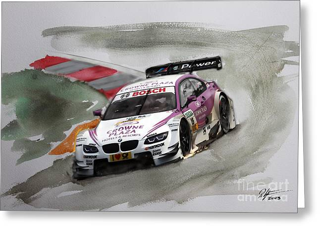 Andy Priaulx Bmw Dtm Greeting Card by Roger Lighterness