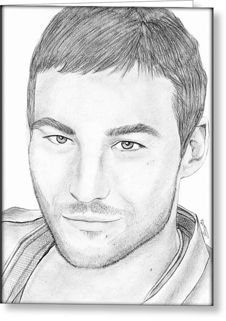 Andy Whitfield  Greeting Card by Saki Art