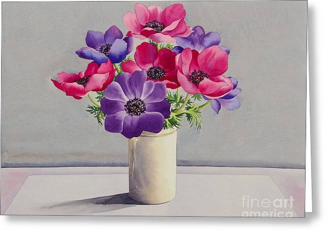 Anemones Greeting Card by Christopher Ryland