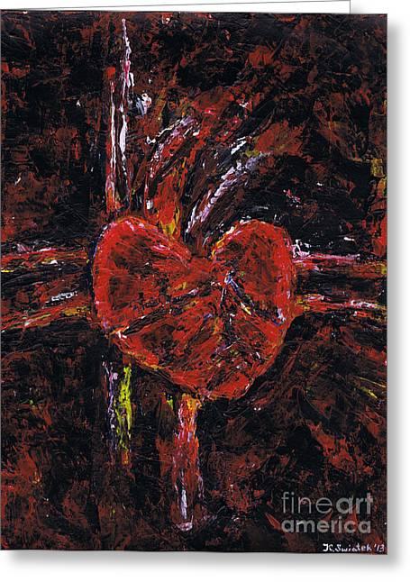 Aneurysm 2 - Middle Greeting Card by Kamil Swiatek
