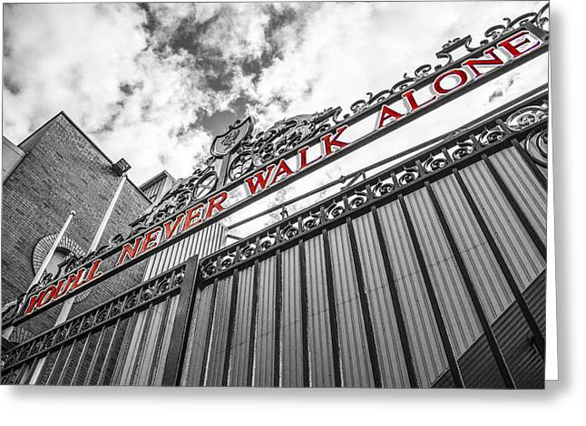 Anfield - The Shankly Gates Greeting Card by Paul Madden
