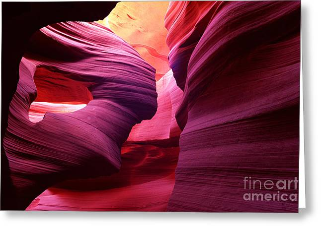 Angel Arch In Antelope Canyon Greeting Card