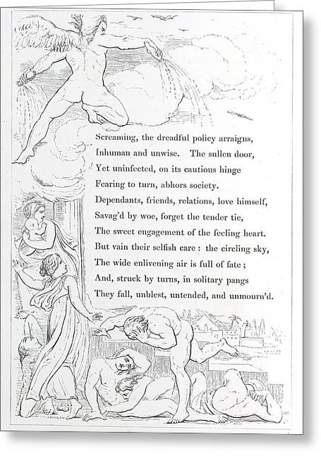 Angel Greeting Card by British Library