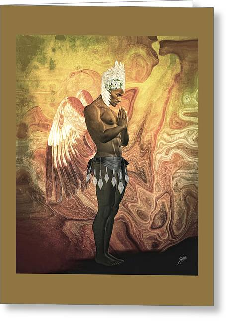 Angel Cabaret Greeting Card by Quim Abella