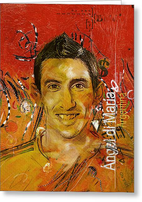 Angel Di Maria Greeting Card by Corporate Art Task Force