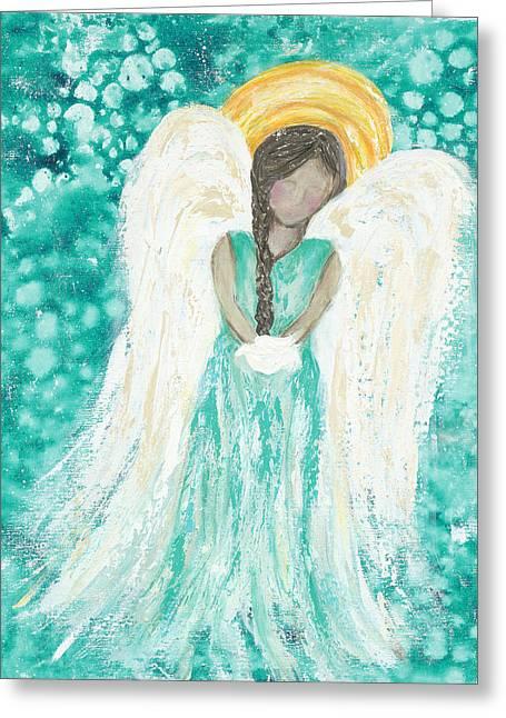 Angel Dreams Greeting Card by Kirsten Reed