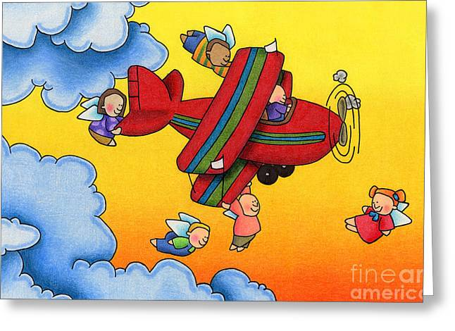 Angel Flight Greeting Card