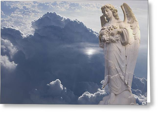 Angel In The Clouds Greeting Card by Jim Zuckerman
