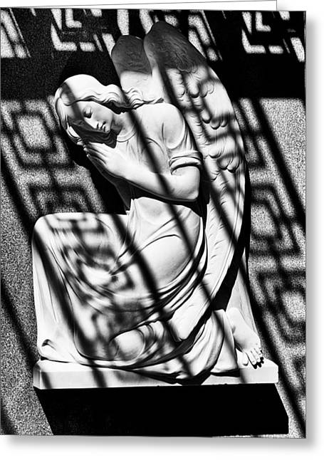 Angel In The Shadows 1 Greeting Card by Swank Photography