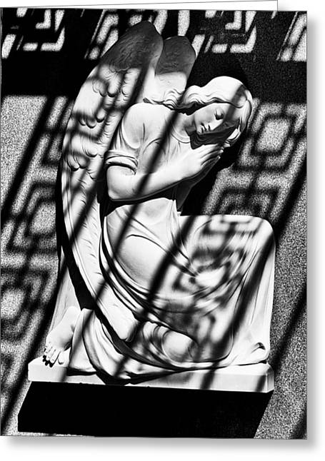Angel In The Shadows 2 Greeting Card by Swank Photography