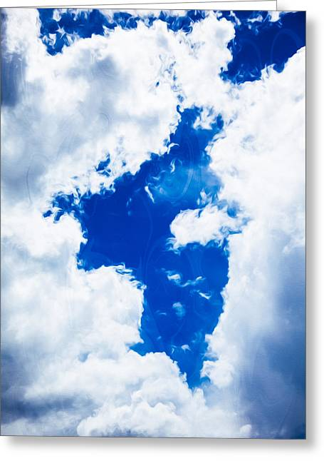 Angel In The Sky Greeting Card by Omaste Witkowski