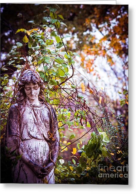 Angel In Vines Greeting Card