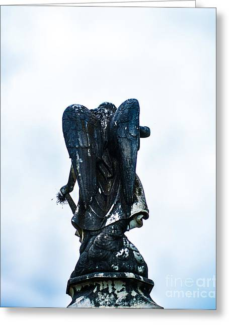 Angel In Waiting Greeting Card by Sonja Quintero