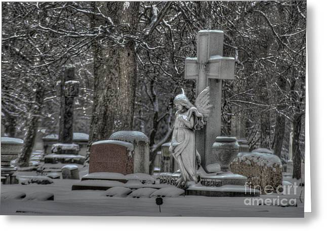 Angel Greeting Card by Jim Wright
