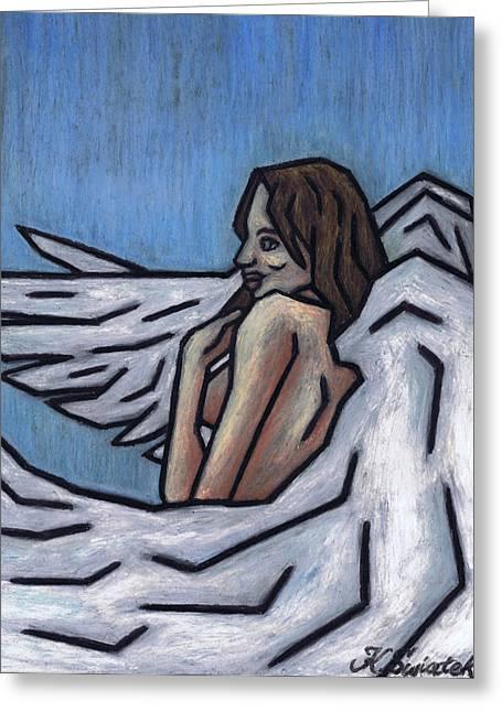 Angel Greeting Card by Kamil Swiatek
