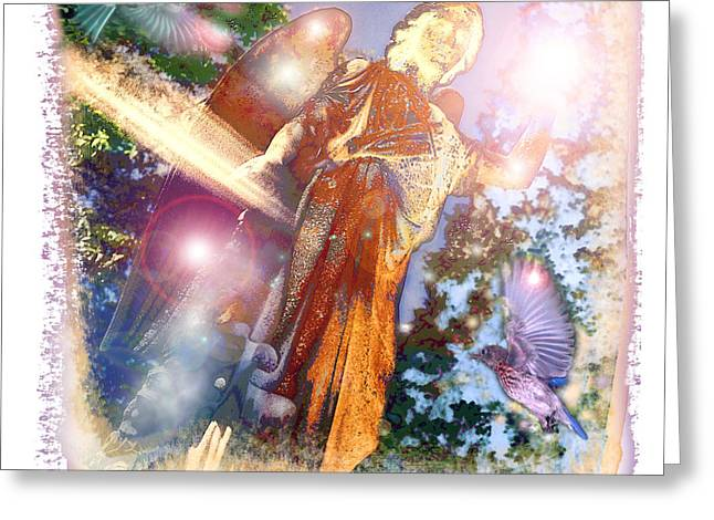 Greeting Card featuring the photograph Angel Light by Marie Hicks