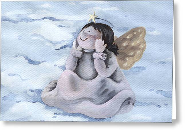 Angel Greeting Card by Natasha Denger