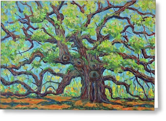 Angel Oak Impression Greeting Card by Dwain Ray
