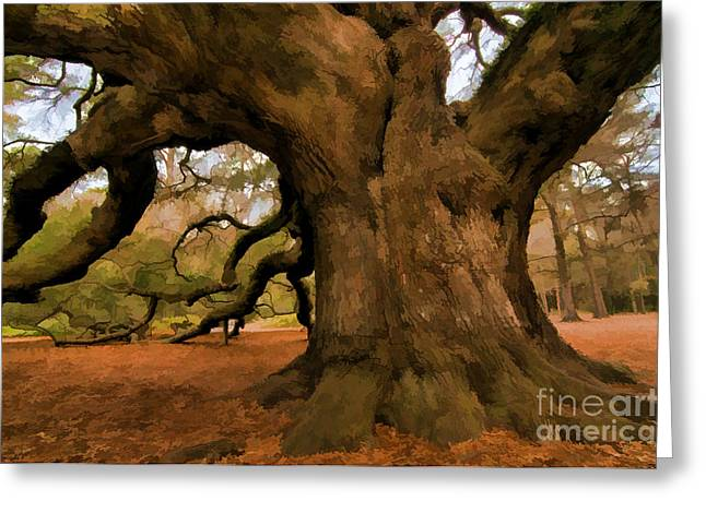 Angel Oak Tree Greeting Card