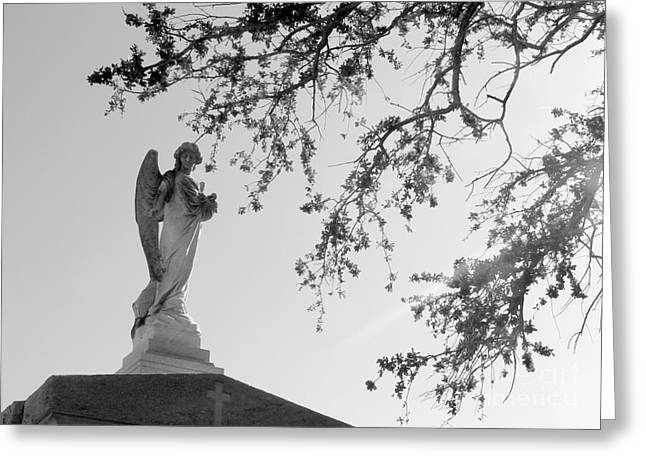 Angel Of Faith Greeting Card by Elizabeth Fontaine-Barr