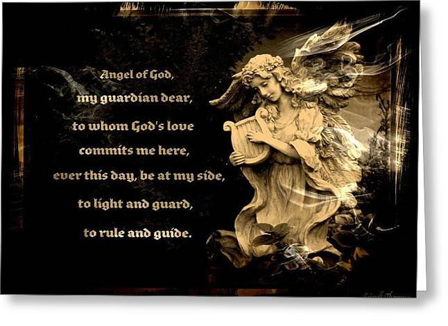 Angel Of God Greeting Card