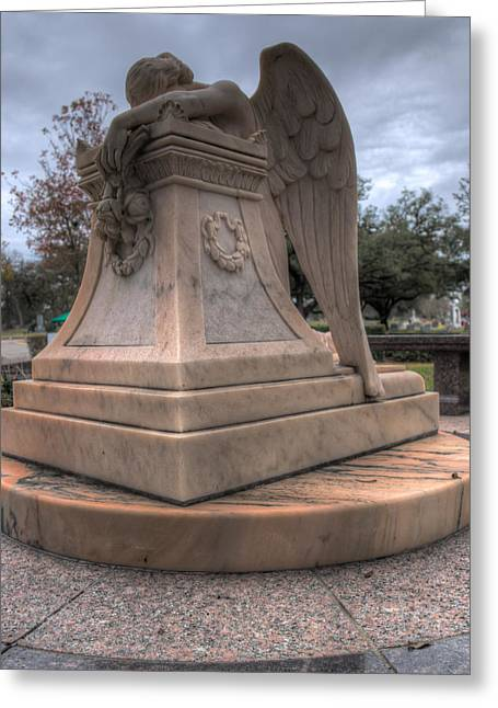 Angel Of Grief Houston 1 Greeting Card