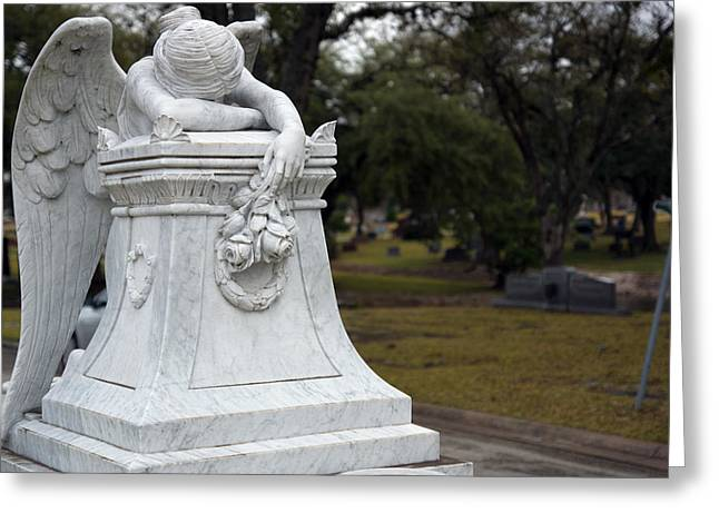 Angel Of Grief Houston 3 Greeting Card