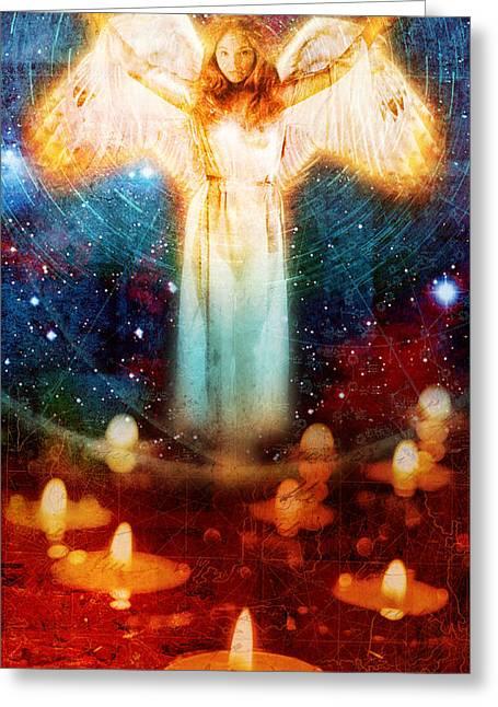 Angel Of Light  Greeting Card by Mark Preston