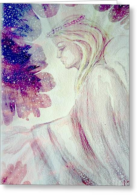 Angel Of Mercy 2 Greeting Card by Leanne Seymour