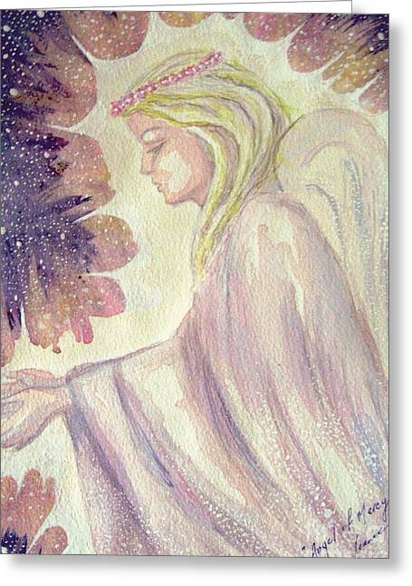 Greeting Card featuring the painting Angel Of Mercy by Leanne Seymour