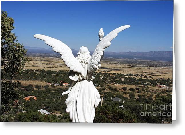 Angel Of Revelation In The Desert Greeting Card