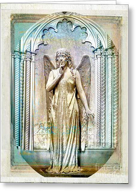 Angel Of Silence.genoa Greeting Card