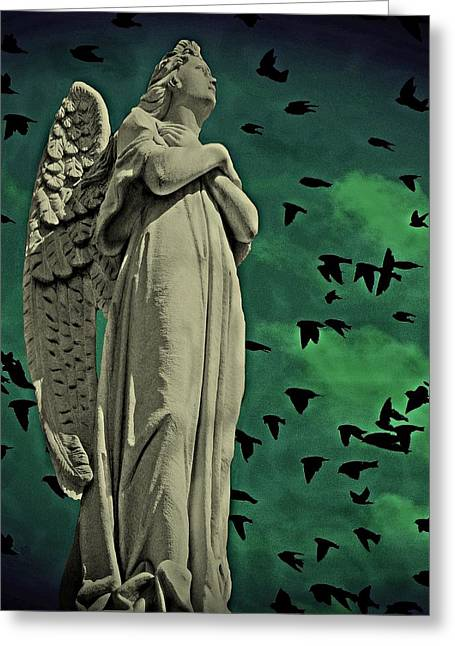 Angel Of Stone Greeting Card