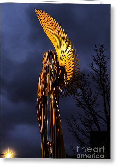 Angel Of The Morning Greeting Card by Steve Purnell