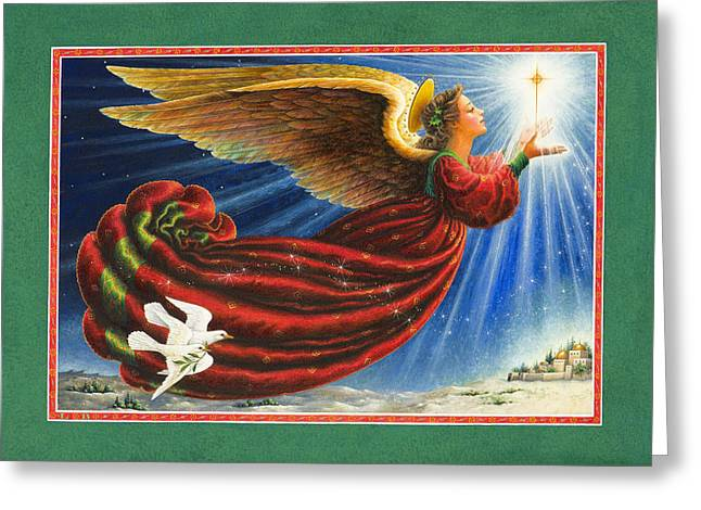 Angel Of The Star Greeting Card