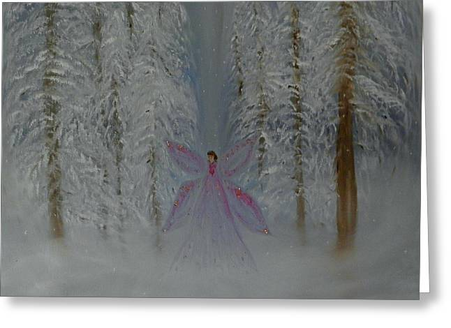 Angel Of Winters Past Greeting Card