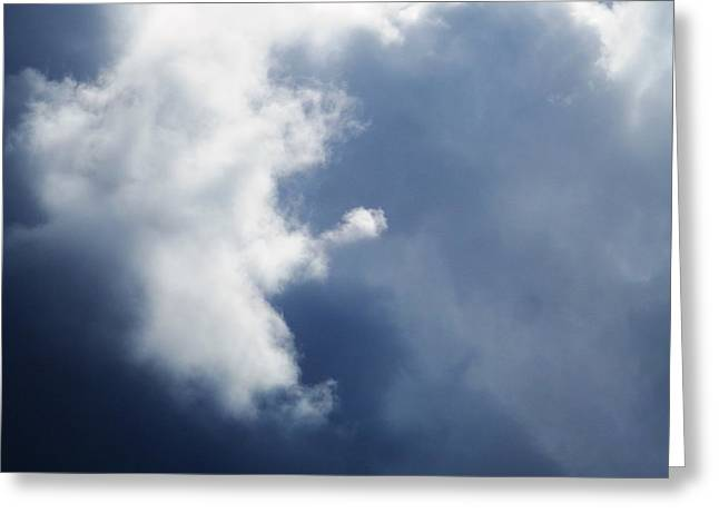 Cloud Angel Kneeling In Prayer Greeting Card