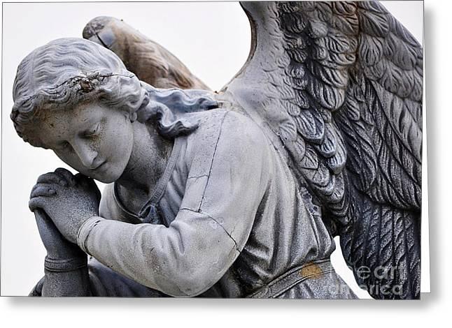 Angel Praying 2 Greeting Card